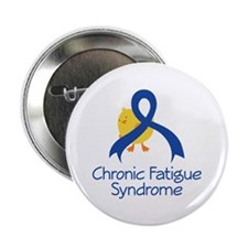 "Chronic Fatigue Syndrome Chick 2.25"" Button"