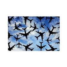 Air traffic, conceptual image - Rectangle Magnet