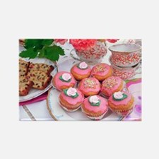 Cakes for afternoon tea - Rectangle Magnet