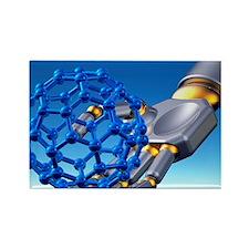 Buckyball molecule, artwork - Rectangle Magnet