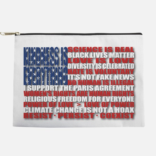 Political Protest American Flag Makeup Pouch