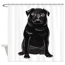 Cute Adopt shelter dog Shower Curtain