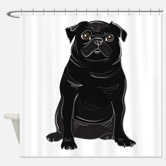 Funny Rescue shelter Shower Curtain
