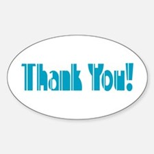 Thank You! Oval Decal