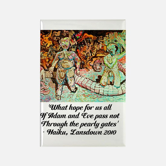 ADAM AND EVE ON JUDGEMENT DAY Rectangle Magnet