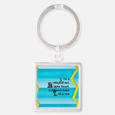 TOP Beach Volleyball Girl Square Keychain