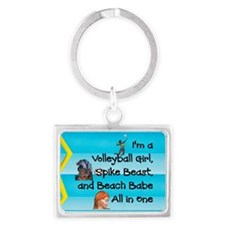 TOP Beach Volleyball Girl Landscape Keychain