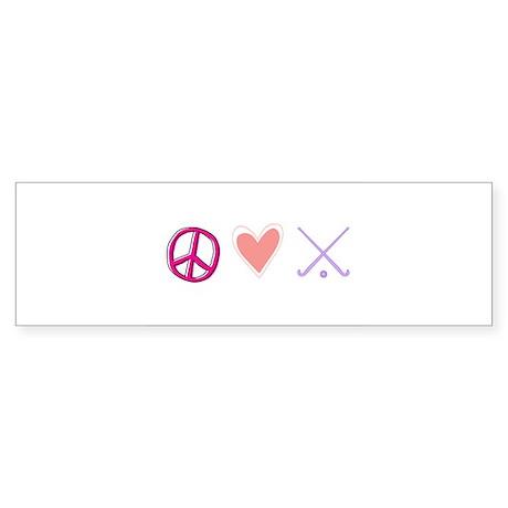 peace love field hockey-page1.jpg Bumper Sticker