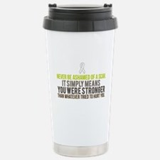 Unique Brain surgery survivor Travel Mug