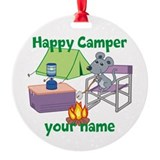 Camper Round Ornament
