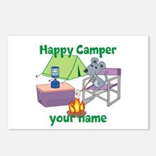 Custom Happy Camper Mouse Postcards (Package of 8)
