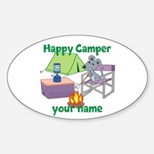 Custom Happy Camper Mouse Decal