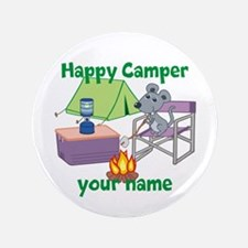 "Custom Happy Camper Mouse 3.5"" Button"