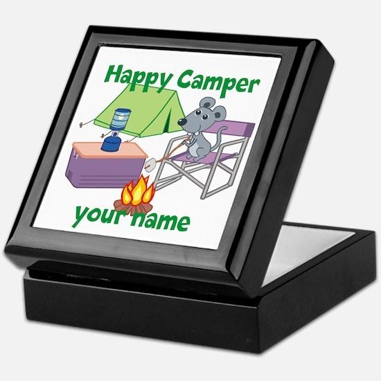 Custom Happy Camper Mouse Keepsake Box
