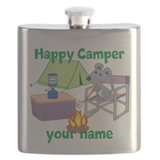 Custom Happy Camper Mouse Flask