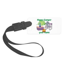 Custom Happy Camper Mouse Luggage Tag