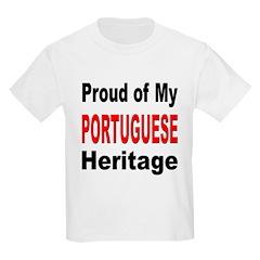 Proud Portuguese Heritage (Front) Kids T-Shirt