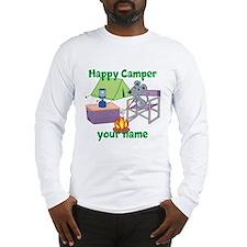 Custom Happy Camper Mouse Long Sleeve T-Shirt
