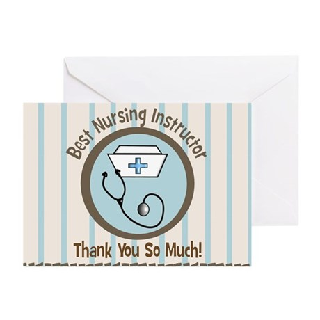 CP nursing instruc 1 Greeting Cards
