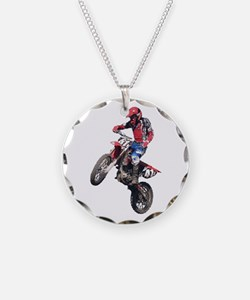 Red Dirt Bike Necklace