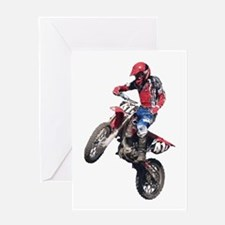 Red Dirt Bike Greeting Card