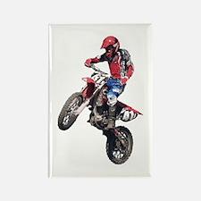 Red Dirt Bike Rectangle Magnet