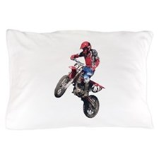 Red Dirt Bike Pillow Case