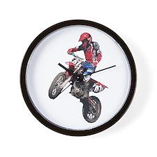 Red Dirt Bike Wall Clock
