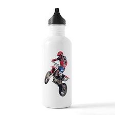 Red Dirt Bike Water Bottle