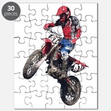 Red Dirt Bike Puzzle