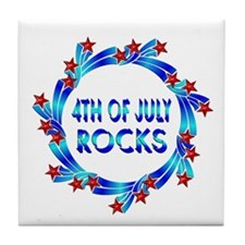4th of July ROCKS Tile Coaster