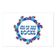 4th of July ROCKS Postcards (Package of 8)
