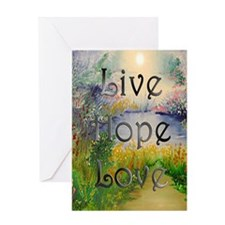 Live Hope Love Greeting Card
