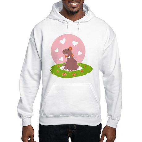 Capybara in Love Hoodie