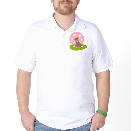 Capybara in Love Golf Shirt