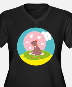 Capybara in Love Plus Size T-Shirt