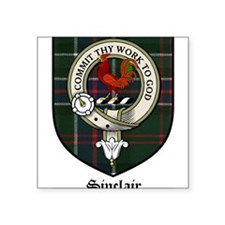 Sinclair Clan Crest Tartan Rectangle Sticker