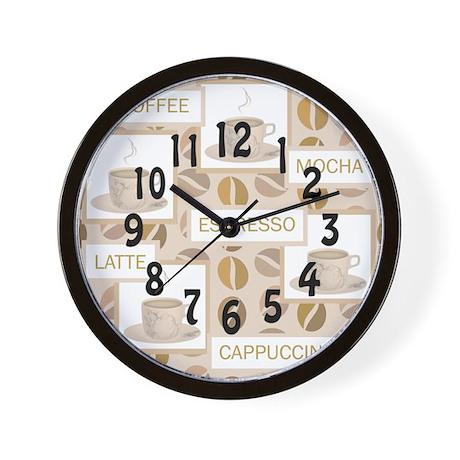 coffee clock Wall Clock