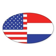USA/Holland Oval Stickers