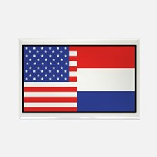 USA/Holland Rectangle Magnet