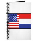 Dutch flag Journals & Spiral Notebooks