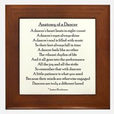 Cute Dancer Framed Tile