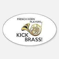 Horn Players Kick Brass Decal