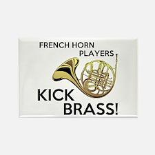 Horn Players Kick Brass Rectangle Magnet