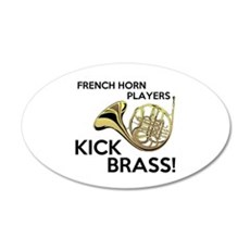Horn Players Kick Brass Wall Decal