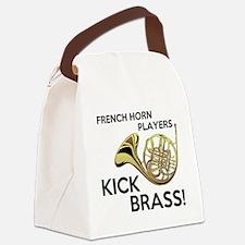 Horn Players Kick Brass Canvas Lunch Bag