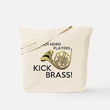 Horn Players Kick Brass Tote Bag