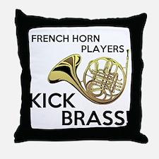 Horn Players Kick Brass Throw Pillow