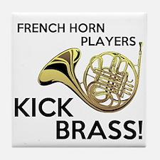 Horn Players Kick Brass Tile Coaster
