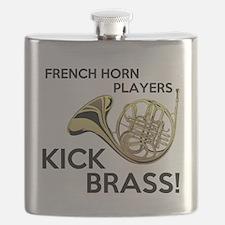 Horn Players Kick Brass Flask